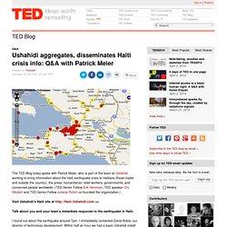 TED Ushahidi aggregates disseminates