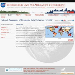 PLACE: Population, Landscape, and Climate Estimates