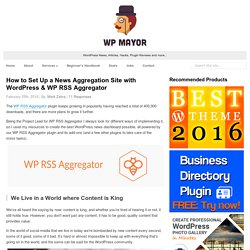How to Set Up a News Aggregation Site with WordPress & WP RSS Aggregator