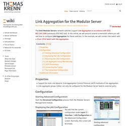 Link Aggregation for the Modular Server - Thomas-Krenn-Wiki