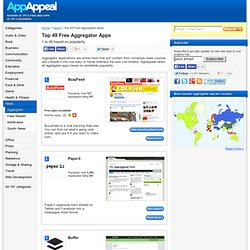 Top 36 Aggregator Apps - Showing 1 to 36 based on popularity