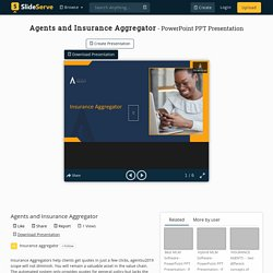 Agents and Insurance Aggregator PowerPoint Presentation, free download - ID:10183284