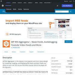 WP RSS Aggregator — WordPress Plugins
