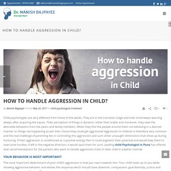 How to handle aggression in Child? - manishbajpayee