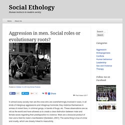 Aggression in men. Social roles or evolutionary roots?