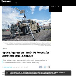 'Space Aggressors' Train US Forces for Extraterrestrial Conflict