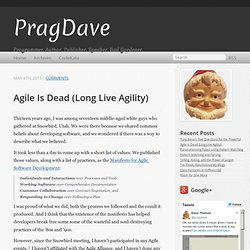Agile Is Dead (Long Live Agility) - PragDave