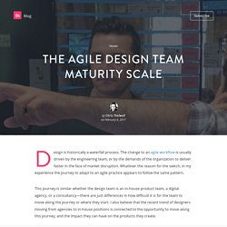The agile design team maturity scale
