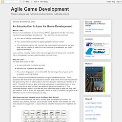 An Introduction to Lean for Game Development