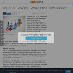 Agile vs DevOps: What's the Difference?