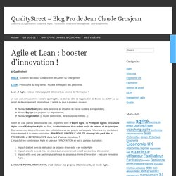 Agile et Lean : booster d'innovation !