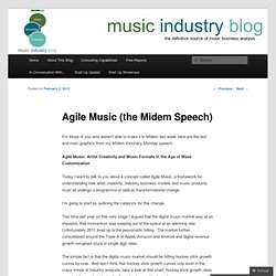 Agile Music (the Midem Speech)