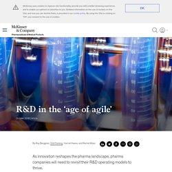 An agile pharma R&D operating model