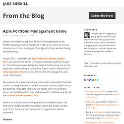 Agile Portfolio Management Game