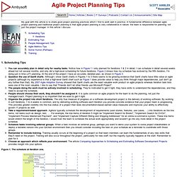 Agile Project Planning Tips