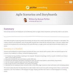 Agile Scenarios and Storyboards