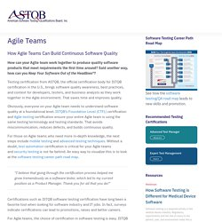 Agile Teams – ASTQB