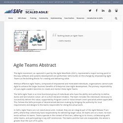 Agile Teams « Scaled Agile Framework