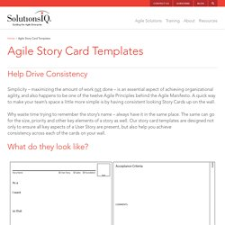 Agile Story Card Templates - SolutionsIQ