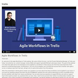 Agile Workflows In Trello