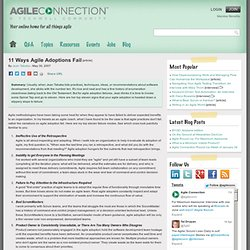 Column info : 11 Ways Agile Adoptions Fail