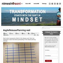 #agileReleasePlanning wall - Nimesh Soni