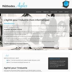 Agilité : Application des méthodes Agiles en industrie