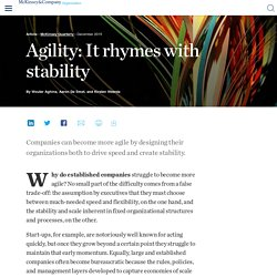 Agility: It rhymes with stability