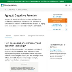 Aging & Cognitive Function