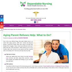 Aging Parent Refuses Help: What to Do?