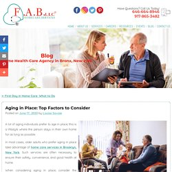 Aging in Place: Top Factors to Consider