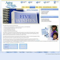 Aging With Dignity Five Wishes