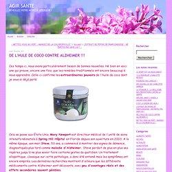 huile de coco contre alzheimer