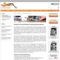 AGIT - GeoWeb 2.0 und Social Media im Katastrophenmanagement