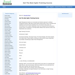 Get The Best Aglie Training Course - Exact Release 11:24 pm