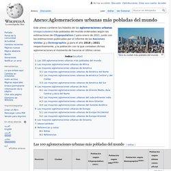 Anexo:Aglomeraciones urbanas más pobladas del mundo
