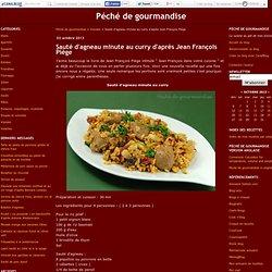 Sauté d'agneau minute au curry d'après Jean François Piège