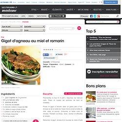 Gigot d'agneau au miel et romarin - une recette Viande