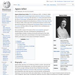 Agnes Arber - Wikipedia
