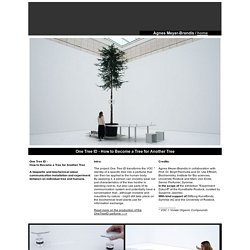 Agnes_Meyer-Brandis - One Tree ID - How To Become a Tree for Another Tree