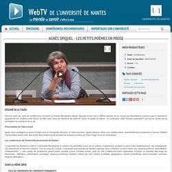 Agnès Spiquel - Les Petits Poèmes en prose