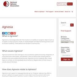 Agnosia - National Aphasia Association