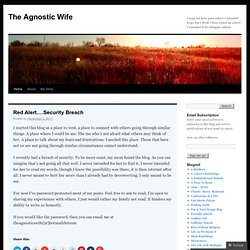The Agnostics Wife's Blog | Searching for answers and trying to find the truth.