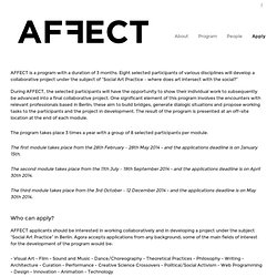 Agora Affect Residency » Apply
