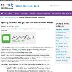 AgoraQuiz : créer des quiz collaboratifs avec vos élèves