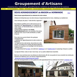 Extension maison pearltrees for Devis agrandissement