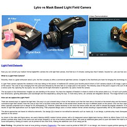 Amit Agrawal: Building A Hand-held Light Field Camera