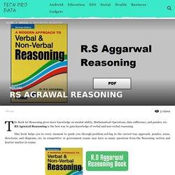 RS AGRAWAL REASONING - Tech Pro Data