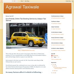 Agrawal Taxiwale: Eco-Friendly Online Taxi Booking Service by Udaipur Taxi Service