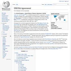 UKUSA Agreement